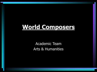 World Composers