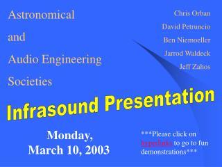 Infrasound Presentation