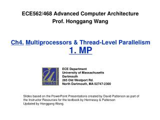 Ch4. M ulti p rocessors & Thread-Level Parallelism 1. MP