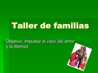Taller de familias