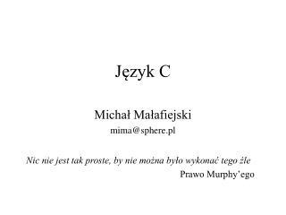 Język C