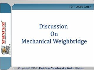 Mechanical weighbridge manufacturer and exporter