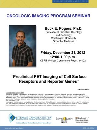 ONCOLOGIC IMAGING PROGRAM SEMINAR
