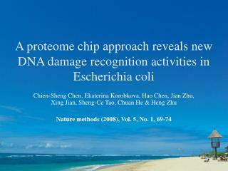 A proteome chip approach reveals new DNA damage recognition activities in Escherichia coli