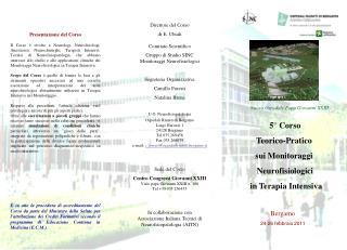 5� Corso Teorico-Pratico  sui Monitoraggi  Neurofisiologici  in Terapia Intensiva