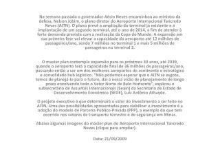 Projeto Aeroporto CONFINS