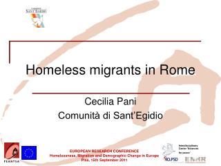 Homeless migrants in Rome