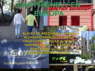 GAY FRIENDLY EN EUROPA
