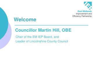 Councillor Martin Hill, OBE