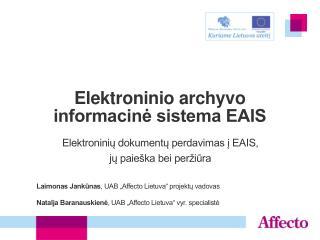 Elektroninio archyvo informacinė sistema EAIS