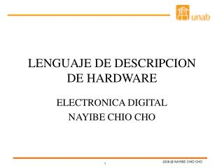LENGUAJE DE DESCRIPCION DE HARDWARE