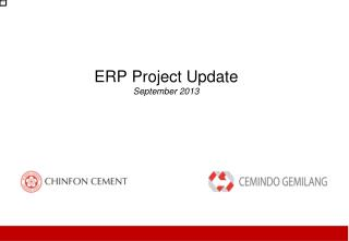 ERP Project Update September  2013
