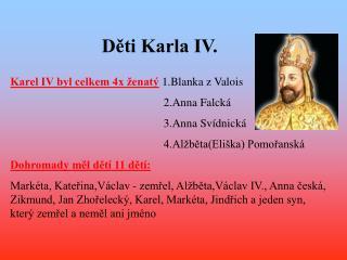 Děti Karla IV.