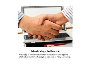 Arbeidstid og arbeidsavtale