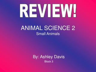 ANIMAL SCIENCE 2 Small Animals