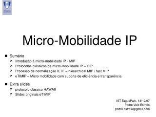 Micro-Mobilidade IP
