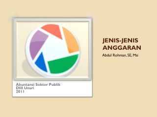 JENIS-JENIS ANGGARAN