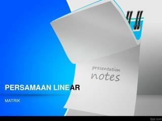 PERSAMAAN LINE AR