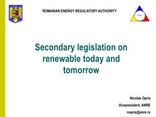Secondary legislation on renewable today and tomorrow