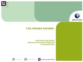 Les clauses sociales