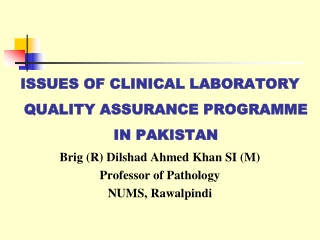 National QA Programme in Histopathology  An Update