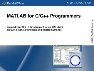 MATLAB for C/C++ Programmers