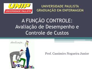 A FUNÇÃO CONTROLE: Avaliação de Desempenho e Controle de Custos