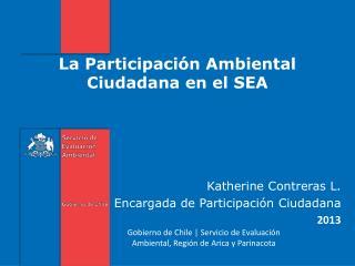 La Participación Ambiental Ciudadana en el SEA