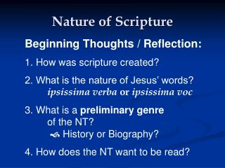 Nature of Scripture