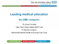Leading medical education  the DME viewpoint