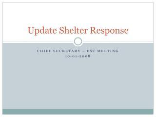 Update Shelter Response