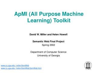 ApMl (All Purpose Machine Learning) Toolkit