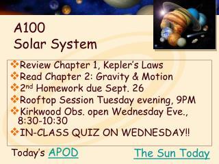 A100  Solar System