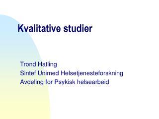 Kvalitative studier