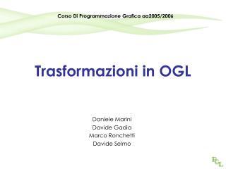 Trasformazioni in OGL