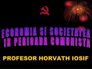 PROFESOR HORVATH IOSIF