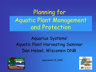 Planning for  WEED CONTROL