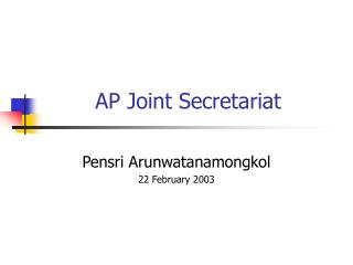 AP Joint Secretariat