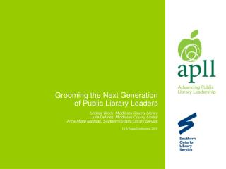 The Advancing Public Library Leadership (APLL) Institute: