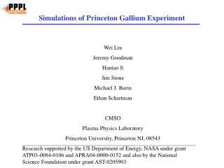 Simulations of Princeton Gallium Experiment