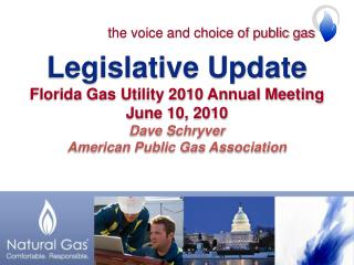 Legislative Update Florida Gas Utility 2010 Annual Meeting June 10, 2010 Dave Schryver