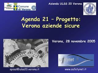 Agenda 21 – Progetto: Verona aziende sicure