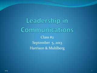 Leadership in Communications