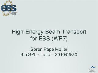 High-Energy Beam Transport for ESS (WP7)