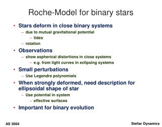 Roche-Model for binary stars