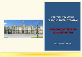 Prof. Demetrio Rojas G.