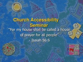Church Accessibility Seminar