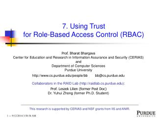 7. Using Trust  for Role-Based Access Control (RBAC)