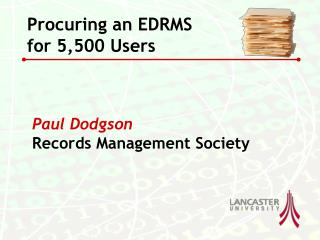 Paul Dodgson Records Management Society