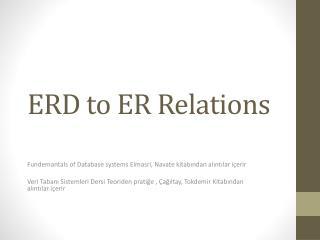 ERD to ER Relations